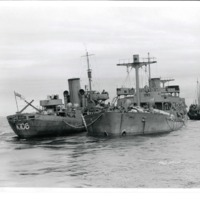 Fort Camosun - E3089 (being towed by the HMCS Edmunston).tif
