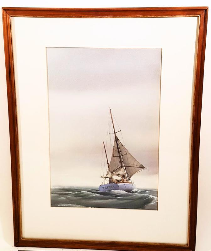Trekka under twin sails - Alan Lester.1.jpg